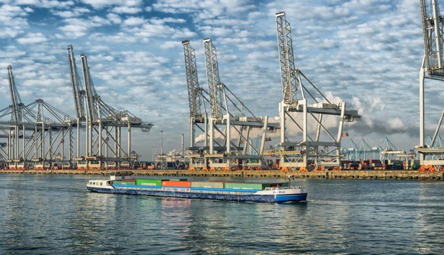 Illustration du port intelligent de Rotterdam